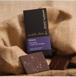 Czekolada 70% kakao z Ghany + Kwiat soli morskiej