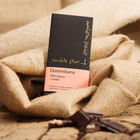 Czekolada 70% kakao z Dominikany + Imbir