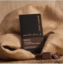 Czekolada z prażonym ziarnem kakaowca 70% kakao z Ghany