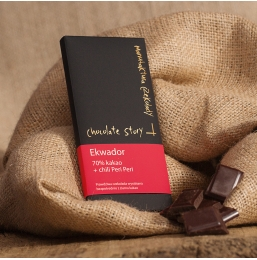 Czekolada 70% kakao z Ekwadoru + Peri Peri