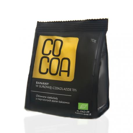 Banany w surowej czekoladzie 70% Cocoa