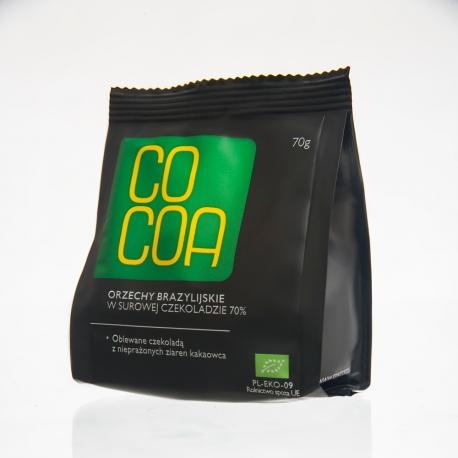 Orzechy brazylijskie w surowej czekoladzie 70% Cocoa