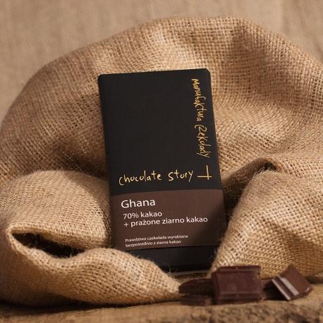 Czekolada 70% kakao z Ghany + Prażone Ziarno Kakao